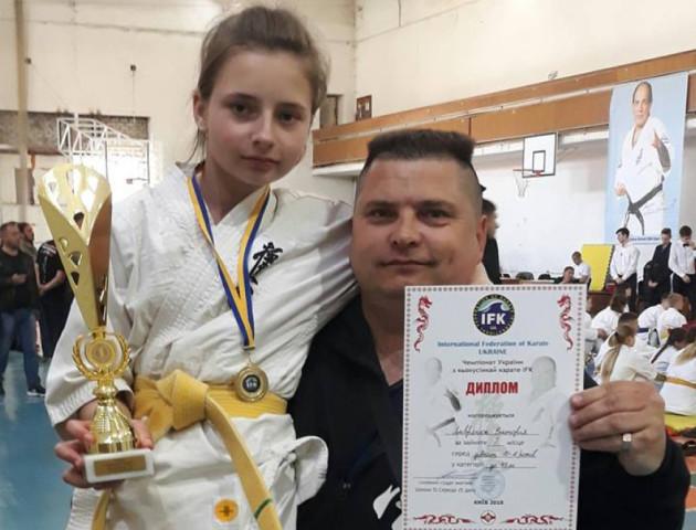 Юна каратистка з Волині здобула «золото» на Чемпіонаті