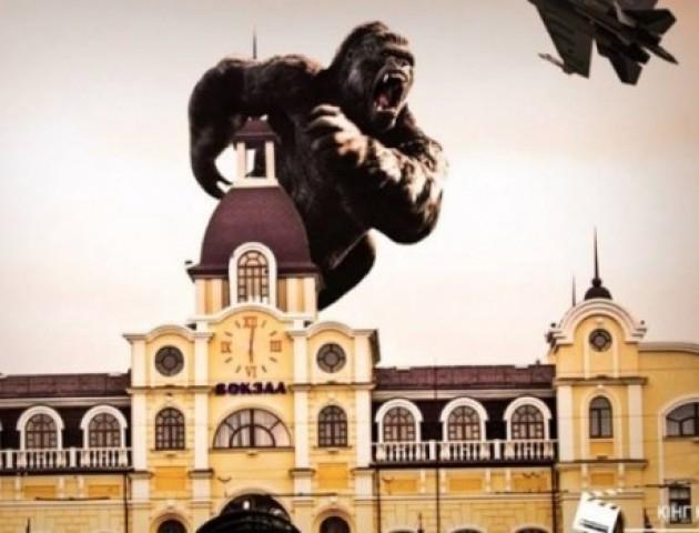 Луцький дизайнер показав кумедні фотожаби, якби голлівудські фільми знімали в Луцьку. ФОТО