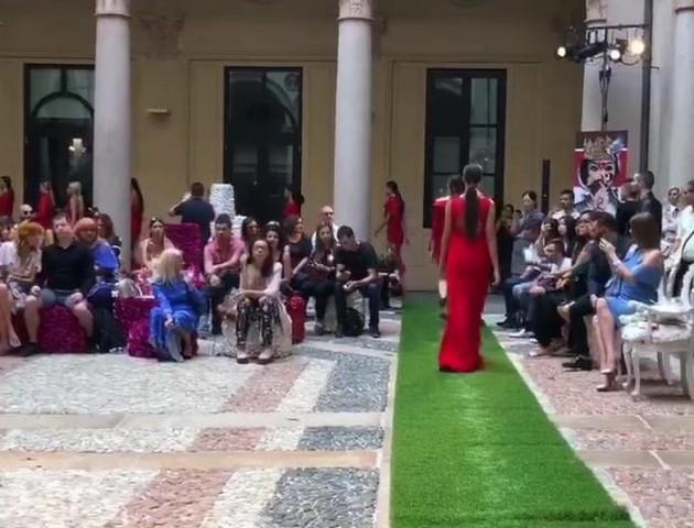 Дизайнерка з Луцька показала відео з тижня моди в Мілані