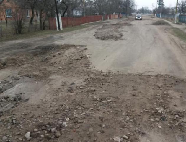 У селі на Волині фермери самостійно взялися латати дорогу, бо «ями вже по коліна». ФОТО