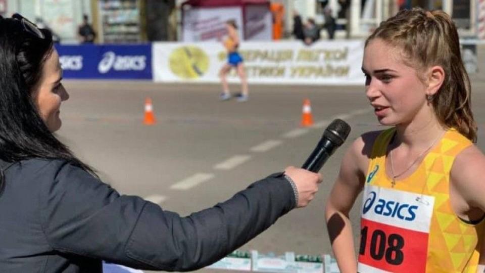 Юна спортсменка з Волині стала чемпіонкою України зі спортивної ходьби